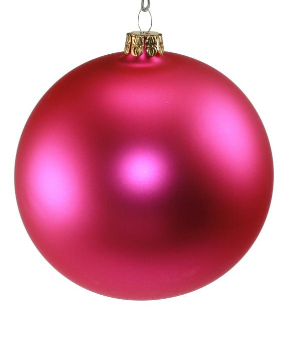Weihnachtskugeln Pink.Weihnachtskugel Pink Matt