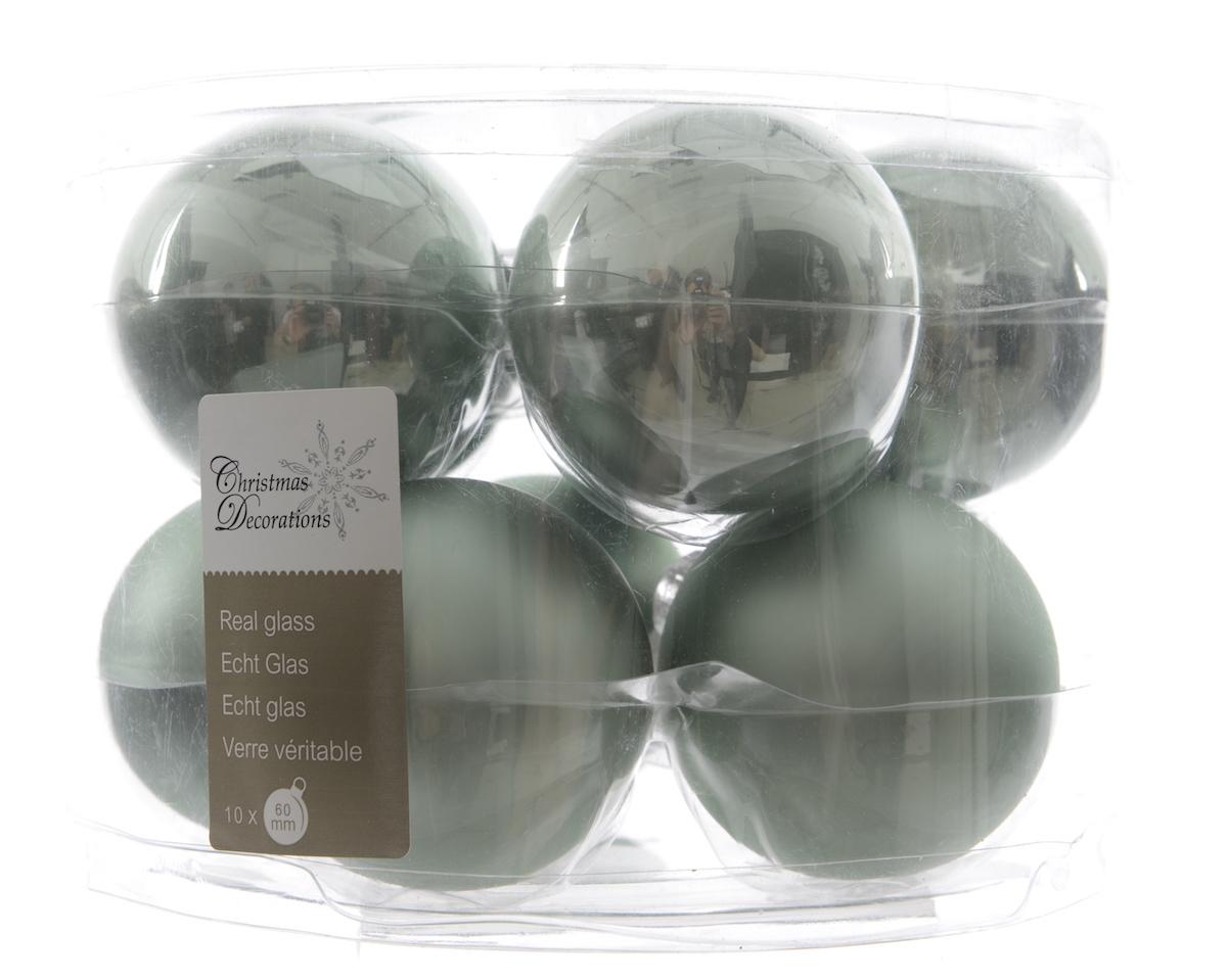 Weihnachtskugeln aus glas glanz matt 6cm eukalyptus online kaufen - Weihnachtskugeln aus glas ...