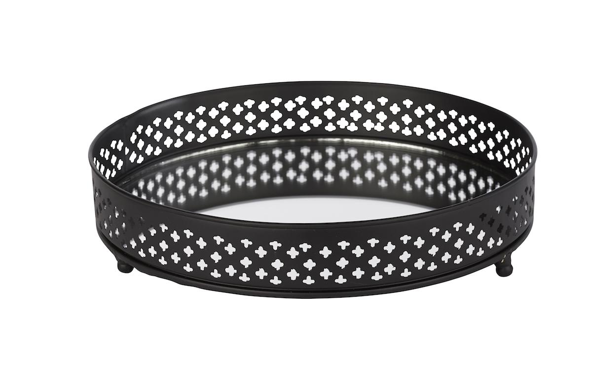 spiegeltablett bethel rund farbe schwarz online kaufen. Black Bedroom Furniture Sets. Home Design Ideas